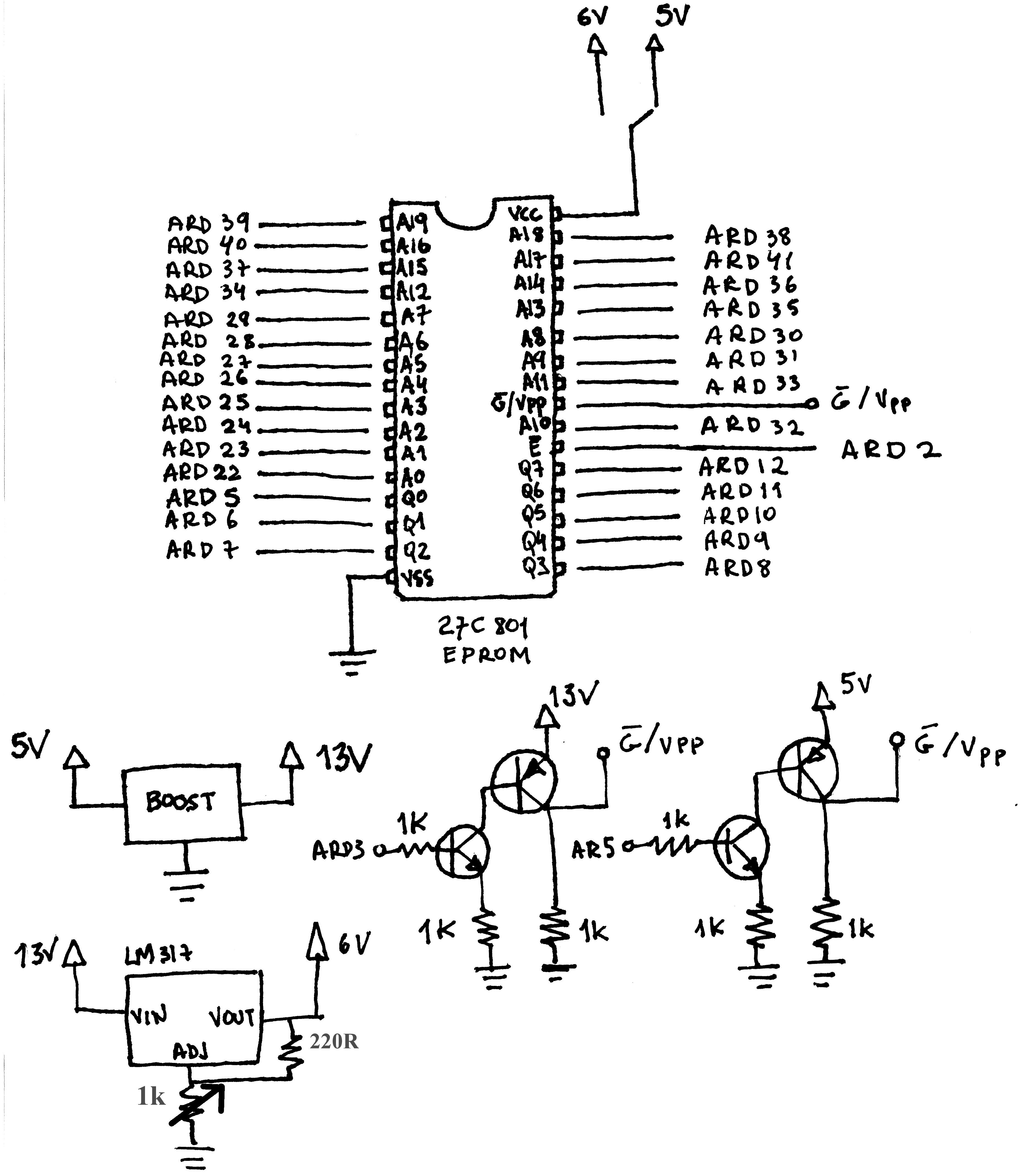 Arduino Mega Eprom Programmer - Dragão sem Chama